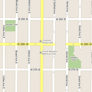 Google Maps screenshot: Uptown Minneapolis, 26th & Lyndale
